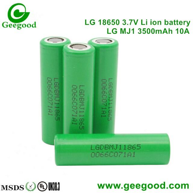 High Amp Battery >> Lg Mj1 3500mah 10a High Capacity High Amp 18650 Battery Shenzhen
